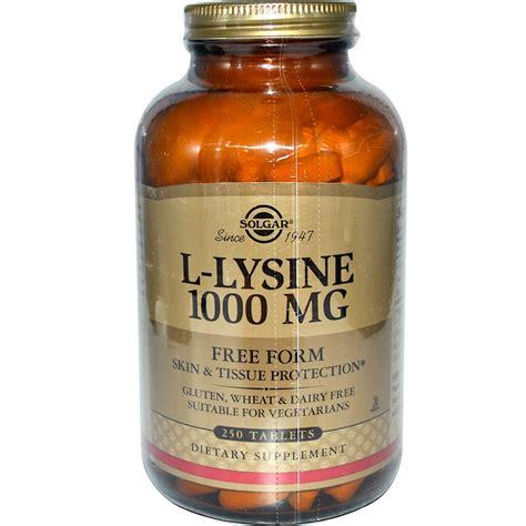 supplement l lysine solgar l lysine free form 1000 mg 250 tablets