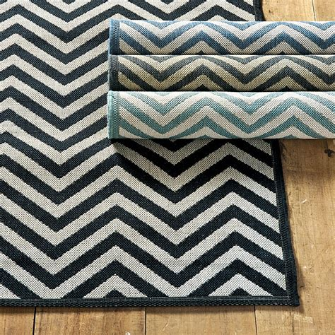 Black And White Chevron Outdoor Rug Chevron Stripe Indoor Outdoor Rug Ballard Designs