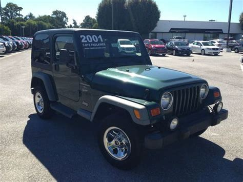 2001 Jeep Wrangler 4 0 Buy Used 2001 Jeep Wrangler Sport 4 0 6 Cylinder 5 Speed