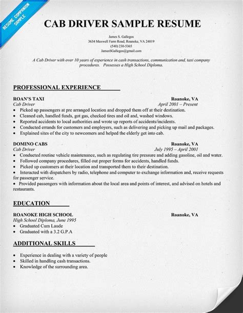 Sample Resume For A Z Driver by Pin By Resume Companion On Resume Samples Across All Industries Pin