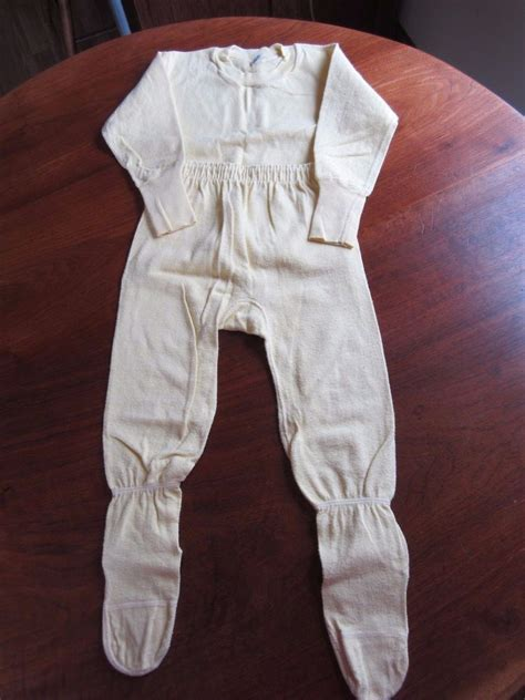 Cotton Pajamas Size 3 by Vintage 1950s Yellow Cotton Knit Toddler Footed