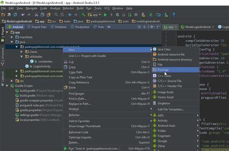 android studio junit tutorial tutorial de programaci 243 n android login con nodejs