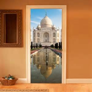 Baroque Wall Stickers style your door trompe l oeil way to taj mahal by couture deco