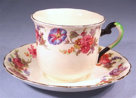 Floral Pattern Bone China Tea Cup And Saucer plant tuscan painted floral vintage bone china tea cup and saucer pattern 388a collectable