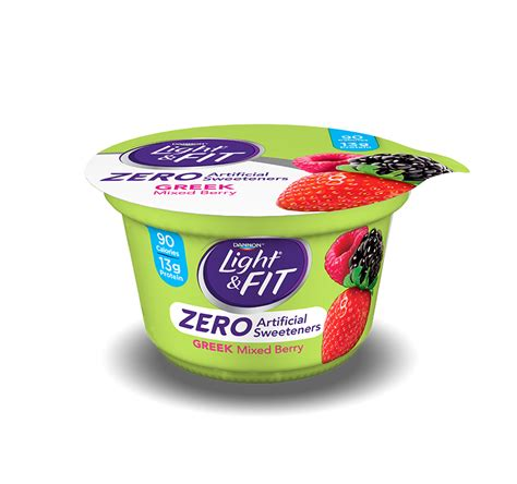 light and fit zero yogurt greek yogurt zero artificial sweeteners light fit 174