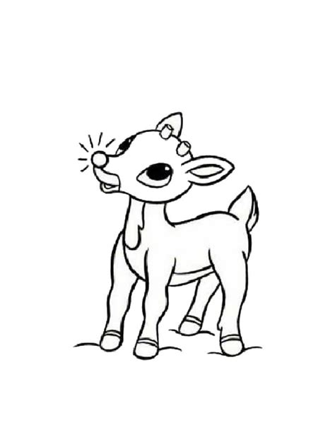 Rudolph The Red Nosed Reindeer Coloring Pages Hellokids Com Rudolph Color Page