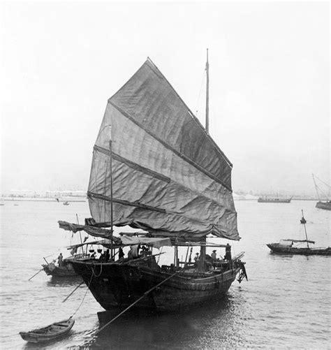 junk boat hong kong harbor chinese junk boat c 1907 photograph