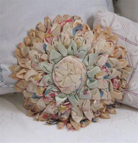 Vintage Flowers Pillow vintage shabby chic flower petal pillow 1930s