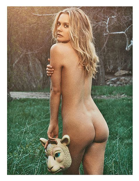 Alicia Silverstone Poses Nude For Peta To Protest Wool