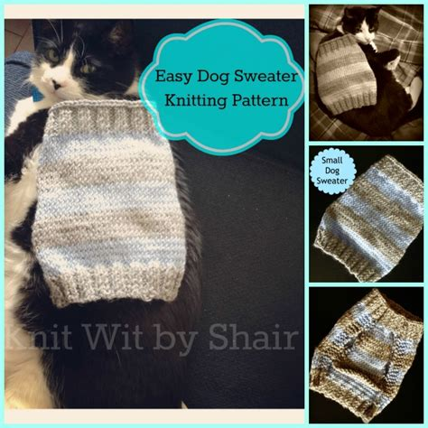 simple knitting pattern for dog coat free archives the knit wit by shair