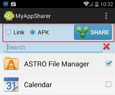 myappsharer apk how to your android mobile apps with your friends
