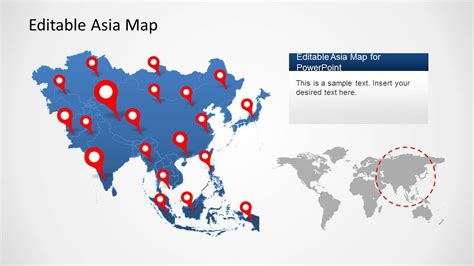 Asia Map Template For Powerpoint Slidemodel Map Templates For Powerpoint