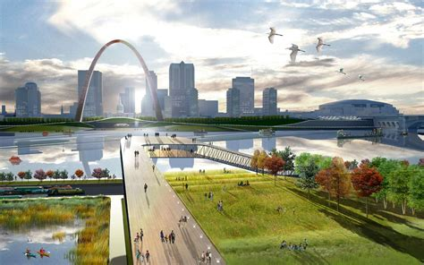The City The Arch The River Full Circle Architizer River City Landscaping