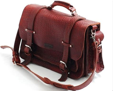 Handmade Leather Handbags Usa - handmade leather bag unisex american buffalo leather bag