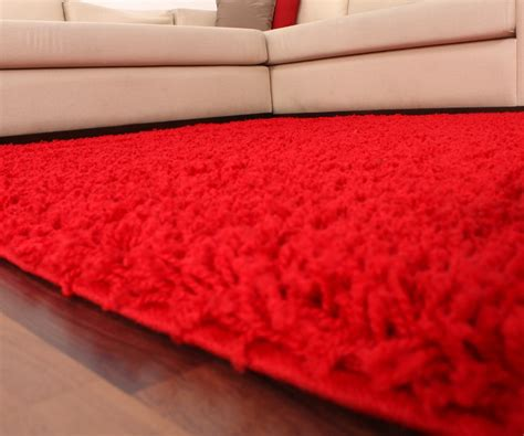 langflor teppich rot shaggy hochflor langflor teppich sky einfarbig in rot