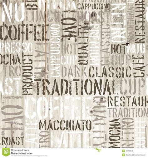 coffee writing wallpaper coffee words on the wooden background vector stock vector