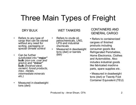 a primer on bulk freight rates