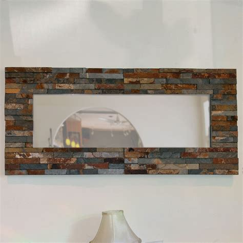 ledge wall mirror rustic