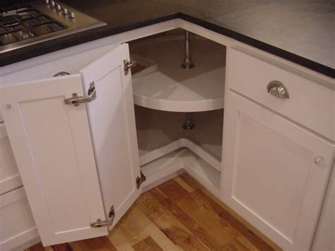 lazy susan for kitchen corner cabinet aj design company cabinet corner solutions
