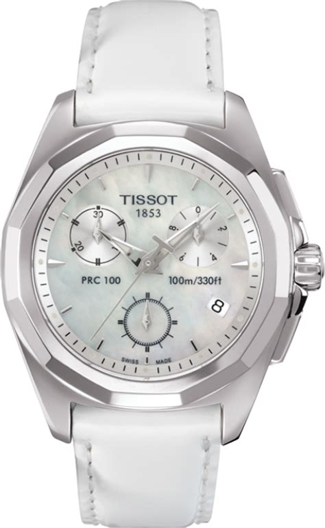 Tissot Prc 100 T0082171103100 t008 217 16 111 00 tissot prc 100 of pearl white leather