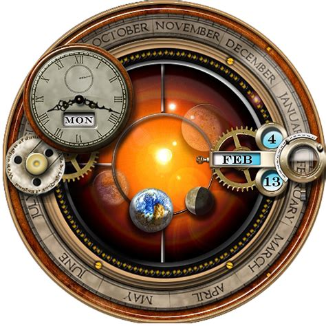 clock themes for laptop rainmeter skin for the steunk orrery and clock by