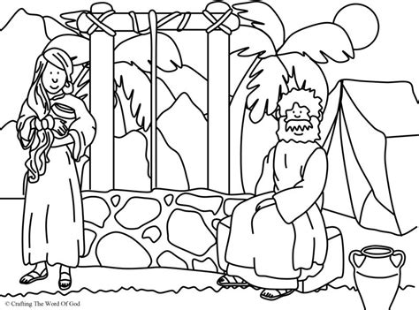 woman at the well coloring page 171 crafting the word of god
