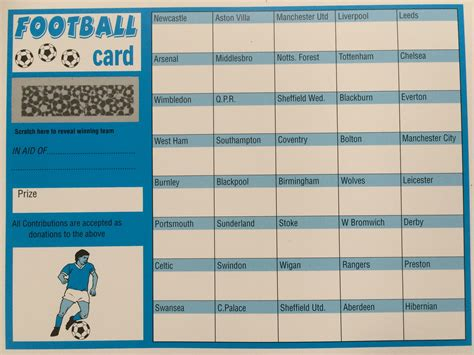 football scratch card template fundraiser football cards images
