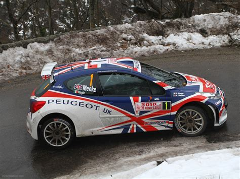 peugeot 207 rally peugeot 207 s2000 at 2010 monte carlo rally car