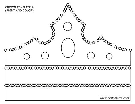 How To Make A Paper Princess Tiara - paper crown template search primary
