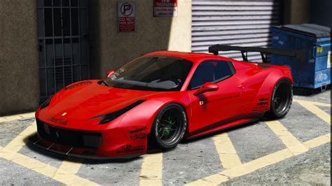 ferrari 458 liberty walk liberty walk ferrari 458 spider add on tuning livery