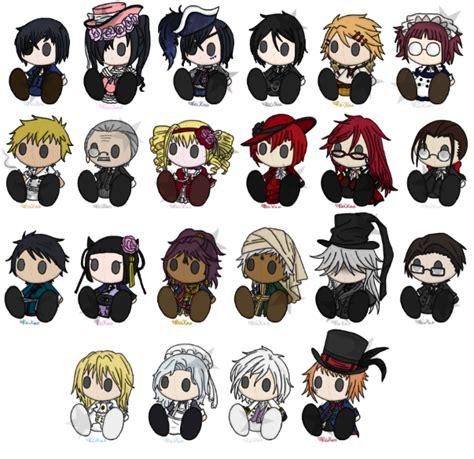 black characters black butler characters wallpaper