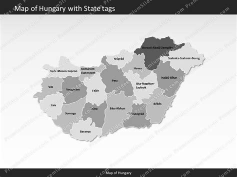 power point themes hungary hungary map editable map of hungary for powerpoint