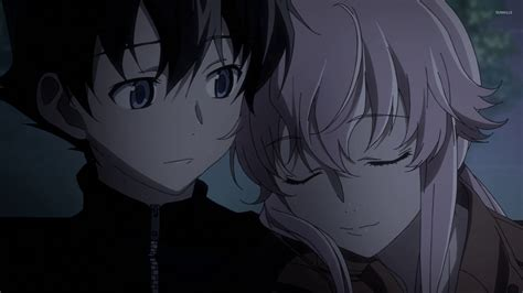 wallpaper anime yuno yukiteru and yuno future diary 3 wallpaper anime