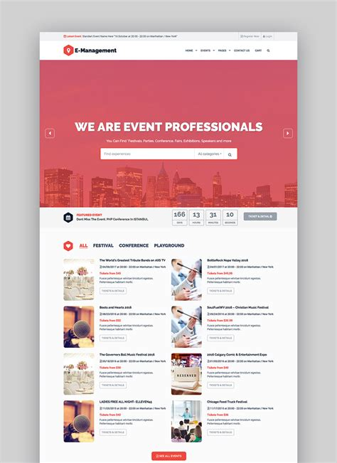 15 Best Wordpress Event Themes For Conferences And More Conference Website Template Free