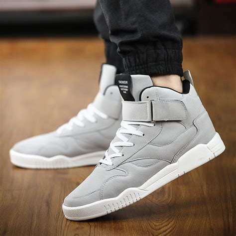 ankle shoes for high top classic suede leather casual shoes