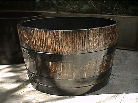Half Whiskey Barrel Planter by Prepare Half Whiskey Wine Barrel Planter Iimajackrussell