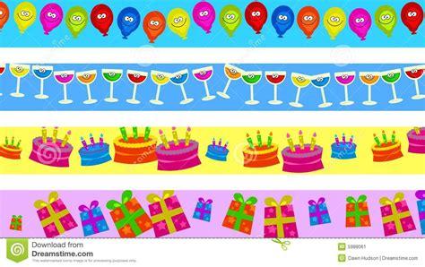 clipart bordi bordi di compleanno illustrazione di stock illustrazione