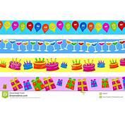 Birthday Borders Stock Illustration Image Of Patterned