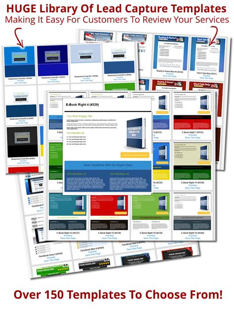 lead capture page templates free lead capture page templates 150 templates to use
