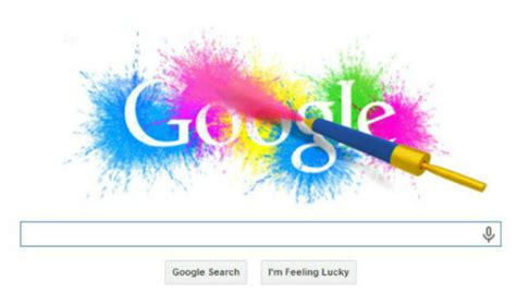 doodle for india 2014 results doodle for holi has a splash of colours with a