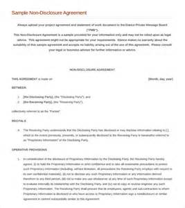 non disclosure template non disclosure agreement 8 documents in pdf word
