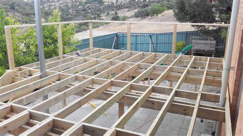 Raised House Plans deck frame