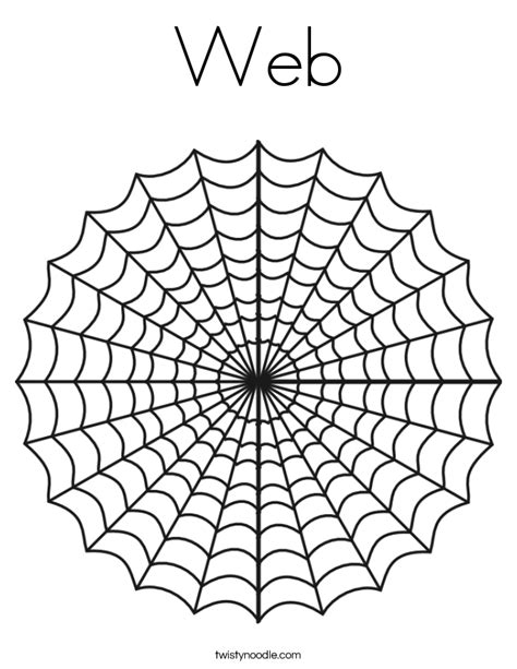 W Is For Web Coloring Page by Web Coloring Page Twisty Noodle
