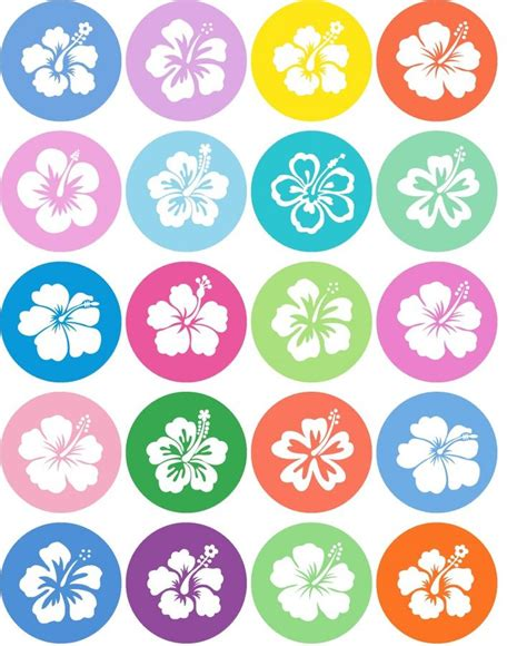 free printable luau party decorations printable hibiscus memory game 1est year pinterest
