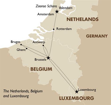map of netherlands belgium and netherlands belgium luxembourg european tours goway