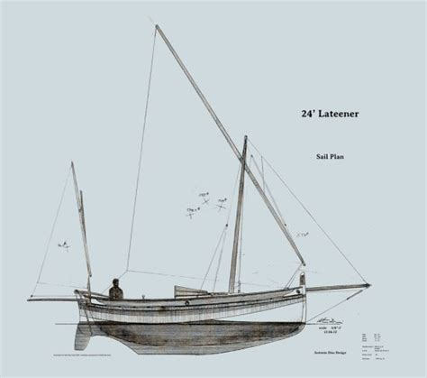 Boat Construction Drawings lateen sail rig for modern ish boats watercraft