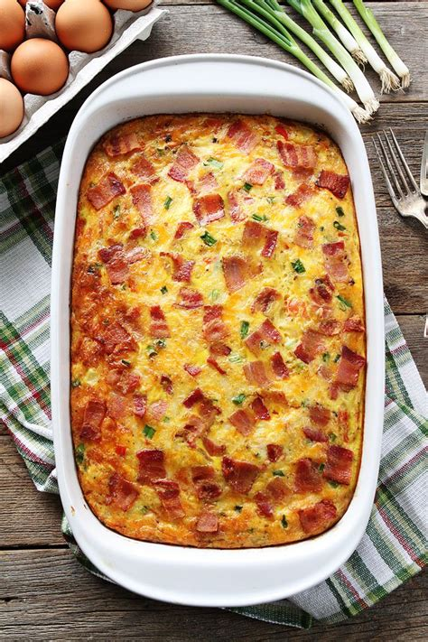 bacon cheese potato bake recipe bacon potato and egg casserole