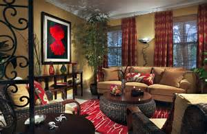 red home decor ideas beautiful living room with den decorating ideas added red