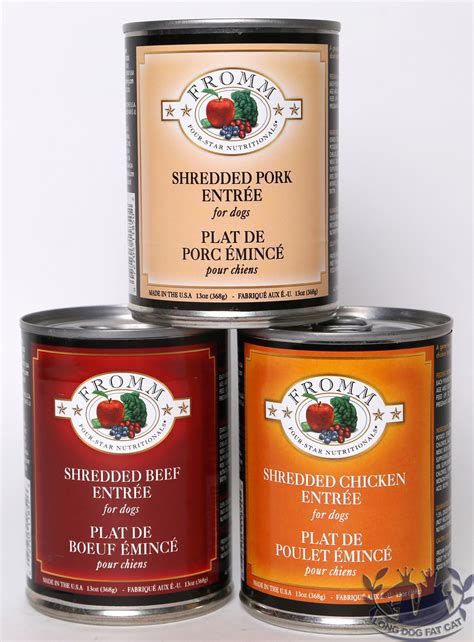 fromm puppy food fromm four shredded canned food