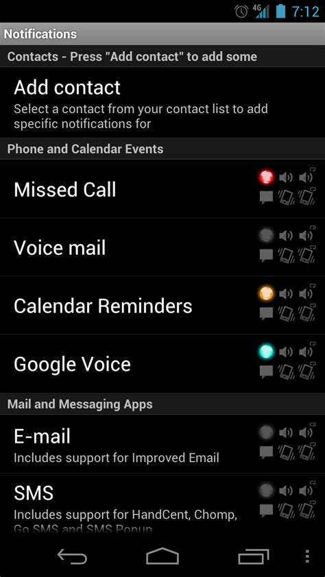 led light for notifications led notification light app for the galaxy nexus is called